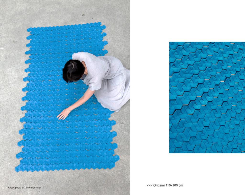 Origami 110x180 cm